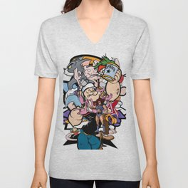 cartoon retro 90s 80s classic print Unisex V-Neck
