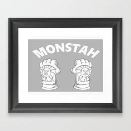 Monstah Framed Art Print
