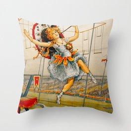 Vintage Sells Floto Circus Ad Throw Pillow