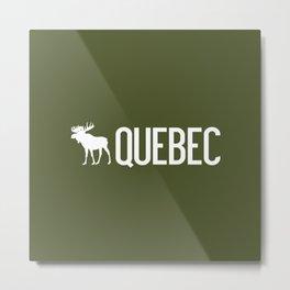 Moose: Quebec, Canada Metal Print