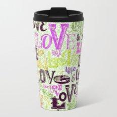 Vintage Love Words Travel Mug