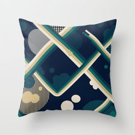 Colorful Geometrical Pattern Throw Pillow
