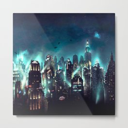 great city atmosphere at night Metal Print
