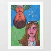 paper towns Art Prints featuring Paper Towns by Anna Gogoleva
