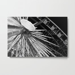Black and White Neon Lights- 7 of 8 Metal Print