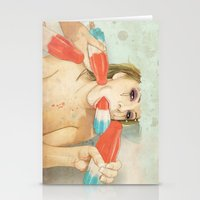 dude Stationery Cards featuring Bombs Away by keith p. rein
