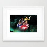 power rangers Framed Art Prints featuring Mighty Morphin' Power Rangers by Ranger Danger