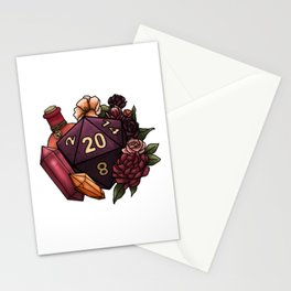 Sorcerer Class D20 - Tabletop Gaming Dice Stationery Cards