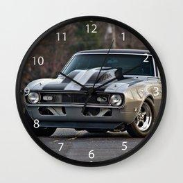 Silver Muscle car  Wall Clock