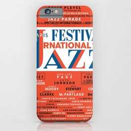 Vintage 1949 Paris International Jazz Festival Poster iPhone Case