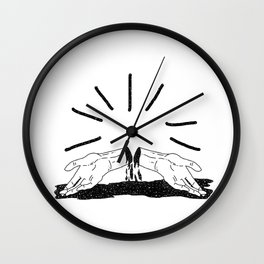 Space hands Wall Clock