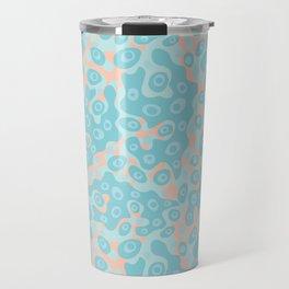 Pastel Pink and Blue Ocean Water Ripples Travel Mug
