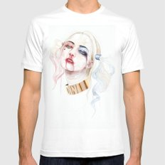 Harley Quinn LARGE Mens Fitted Tee White