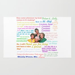 Golden Girl Quotes Rug