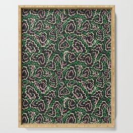 Zig Zag Abstract Geometric Pattern Serving Tray