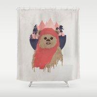 ewok Shower Curtains featuring Ewok by Robert Scheribel