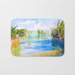 Reeded Lake Bath Mat
