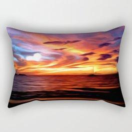 Honeymoon Sunset Rectangular Pillow
