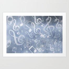 DT MUSIC 10 Art Print