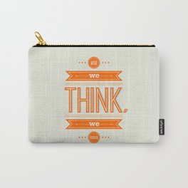 Lab No. 4 - What we think we become Guatama Buddha Quotes Poster Carry-All Pouch
