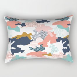 Colorful Camouflage Rectangular Pillow