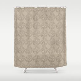 MAD HUE Total Tan Shower Curtain