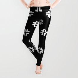 Scandinavian / Black + White Leggings