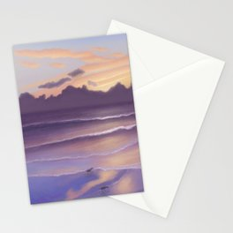 Violet Beach Stationery Cards