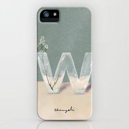 Vase W Wax flowers iPhone Case