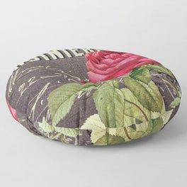 Vintage red rose #2 Floor Pillow