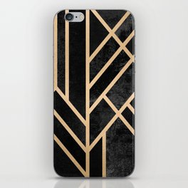Art Deco Black iPhone Skin