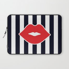 Red Lips with Stripes Laptop Sleeve