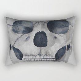 Human skull watercolour Rectangular Pillow