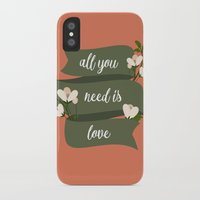 all you need is love iPhone & iPod Cases featuring All you need is love by Juliana RW