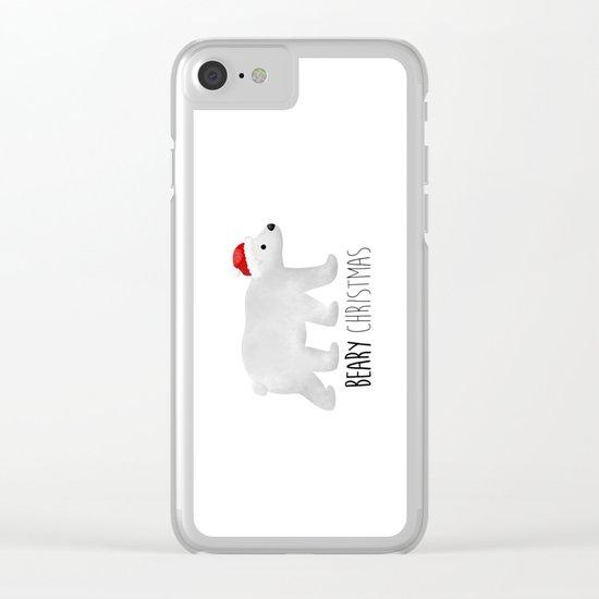 Beary Christmas | Polar Bear Clear iPhone Case