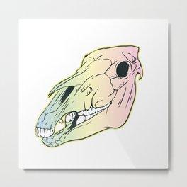 Neon Indie Horse Girl Metal Print