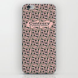 Contrary to popular belief. (Floral) by WIPjenni iPhone Skin