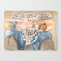 cabin pressure Canvas Prints featuring Cabin Pressure by Kit Mills