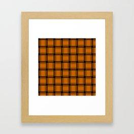 Large Dark Orange Weave Framed Art Print