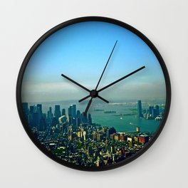 New York from the Empire State Building Wall Clock