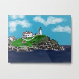 "Cape Neddick ""Nubble"" Lighthouse Metal Print"