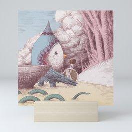 Drummer Bird - Arriving Mini Art Print