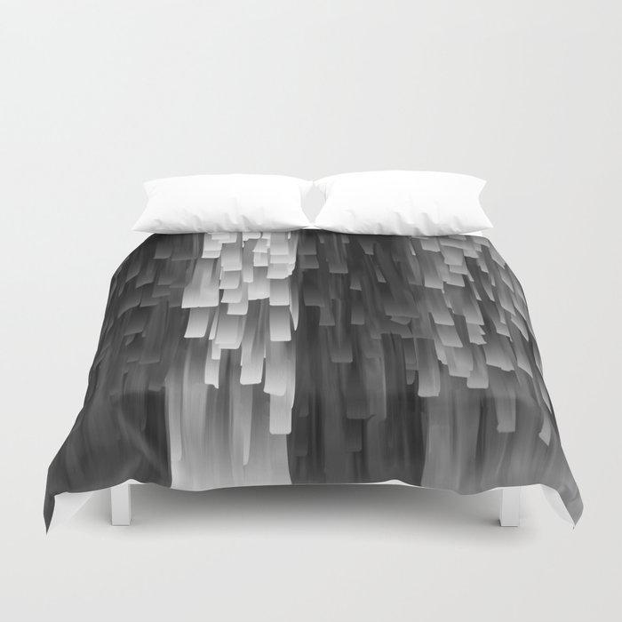 Fringe (Black and White) Duvet Cover