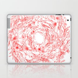 Loose Watercolor Floral Swirl - Red Laptop & iPad Skin