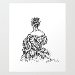 The Striped Gown Art Print