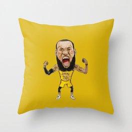 Lebron Scream LA23 Throw Pillow