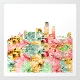 Corpus Christi Skyline Texas Art Print