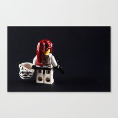 Lady Trooper Canvas Print