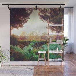 Instagram Summer Garden Irish Landscape Green and Amber Photography Print Wall Mural