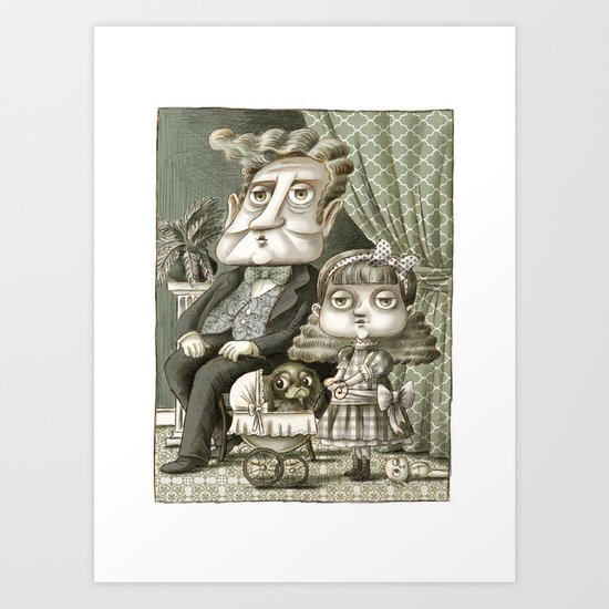 Lionel and Flossie Boyle Art Print